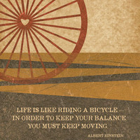 Life is like riding a bicycle by Gayana on Etsy
