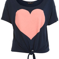 Petites Heart Print Tee