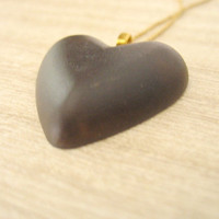 Brown Necklace , Resin Pendant , Heart Necklace , Resin Necklace Jewelry , Valentines Locket , Womans Resin Jewellery , Kids Jewellery