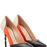 Roland Mouret - Romy Leather and Suede Pumps