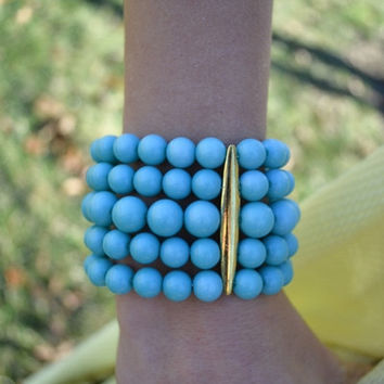Spring Stack In Turquoise Bracelet
