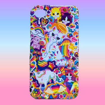 90s Lisa Frank Sticker Collage iPhone Case / Personalized