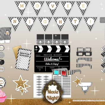 Classy Movie Night Printable Party Kit for all ages