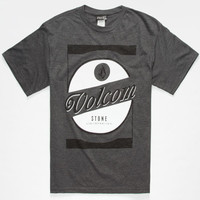 Volcom Channeled Boys T-Shirt Heather Black  In Sizes