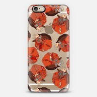 curled fox polka transparent phone case ~ get $10 off using code: 5A7DC3