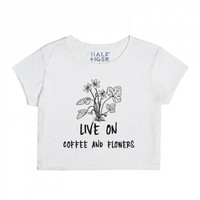 Coffee and Flowers-Unisex Snow T-Shirt