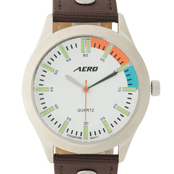 Aeropostale  Classic Analog Watch - Brown, One