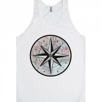 Compass Rose-Unisex White Tank