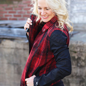 Living In The Moment Plaid Jacket