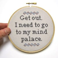 Mind Palace - Sherlock Cross Stitch Hoop
