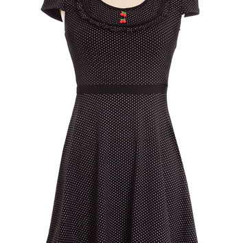 Cherry Doll Polka Dot Jersey Dress
