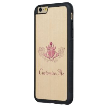 The Claddagh (Pink) Carved® Maple iPhone 6 Plus Bumper Case