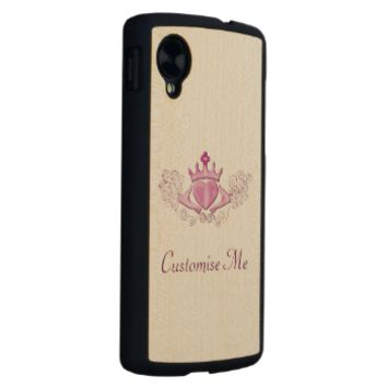 The Claddagh (Pink) Carved® Maple Nexus 5 Case