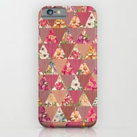 GEOMETRIC MODERN FLOWERS iPhone & iPod Case by Nika
