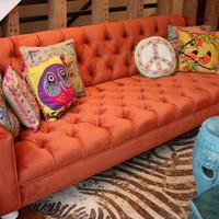 www.roomservicestore.com - Audrey Sofa in Burnt Orange velvet
