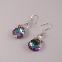 Super Gorgeous Swarovski Crystal Swirl Earrings