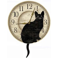 Infinity Instruments Wagging Cat Tail Pendulum Clock