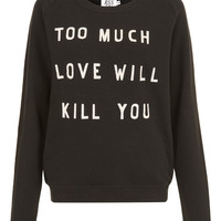 Black Too Much Love Jumper, Zoe Karssen. Shop more jumpers from the Zoe Karssen collection at Liberty.co.uk
