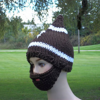 Football Hat Bearded Beanie Knit