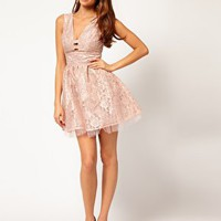 Elise Ryan Plunge Neck Prom Dress at asos.com