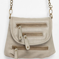 Deena & Ozzy Triple- Zip Crossbody Bag