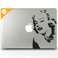 MAC DECAL vinyl laptop stickers Wall Computer Geekery- Marilyn Monroe- Removable Decal 39