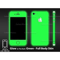 Amazon.com: iPhone 4 and 4S Glow in the Dark Green Full Body Skin(VINYL ADHESIVE DECAL) Kit by Carbon iPhones®: Cell Phones & Accessories