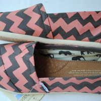 Custom Hand Painted TOMS Chevron Design