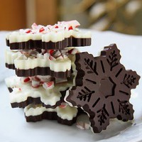 Once Upon a Plate: Peppermint Bark Snowflakes