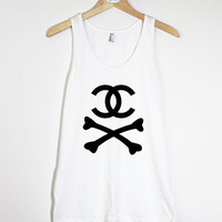 Skeleton Chanel II - American Apparel Unisex  Fine Jersey Tank Top