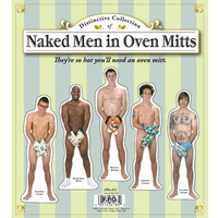 NAKED MEN WITH OVEN MITTS MAGNETS