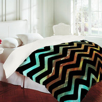 Madart Inc. Wavy Chevron Lava Flows Duvet Cover - Luxe Duvet Cover /