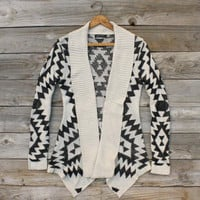 Sagelands Sweater in Cream, Sweet Navajo Inspired Clothing