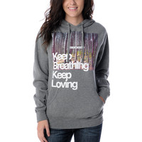 Glamour Kills Keep Breathing Grey Hoodie