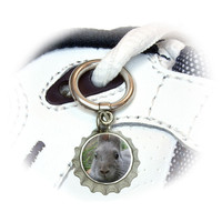 Bunny Rabbit Gray - Easter Shoe Bottlecap Charm