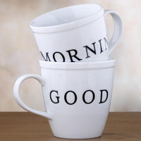 Good Morning Mugs Set of 2 | World Market