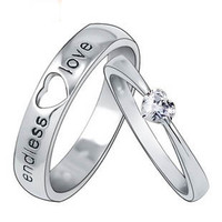 Gullei Trustmart : Customized Engravable Endless Love Matching Heart Wedding Couple Ring [GTM00278] - $80.00-Couple Gifts, Cool USB Drives, Stylish iPad/iPod/iPhone Cases &amp; Home Decor Ideas