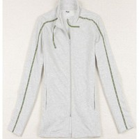 Grey Women Autumn New Style Zipper Stand Collar Sports Casual Cotton Coat XL @WH0393g $11.96 only in eFexcity.com.