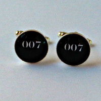 Personalized Wedding Cufflinks 007 Groomsman Gifts Groom Gift Anniversary Gift