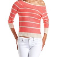 Lurex Stripe Knit Sweater: Charlotte Russe