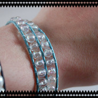 CLEARANCE ITEM - Double Layered Leather Wrap Bracelet