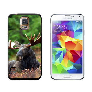 Moose Male Bull Antlers Galaxy S5 Case
