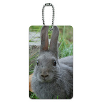Bunny Rabbit Gray - Easter ID Card Luggage Tag