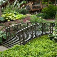 Willow Creek 6-ft. Metal Garden Bridge | www.egardenbridges.com