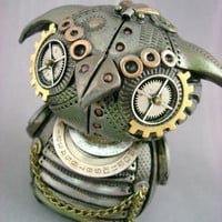 MechOwlie - Fully Customizable - Freestanding Industrial Steampunk Owl Sculpture