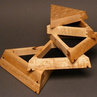 Jewelry Box, Birdseye Maple, &#x27;The Trapezoid&#x27;