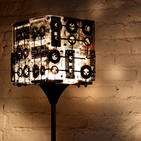Street Market  Cassette Tapes Floor Lamp by Ooo My Design