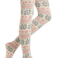 Come Away with Ski Tights | Mod Retro Vintage Tights | ModCloth.com