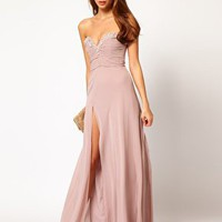 Lipsy VIP Thigh Split Maxi Dress at asos.com
