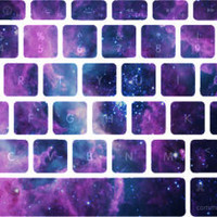 Lavendar Nebula Stellar Ring Macbook Keyboard Stickers